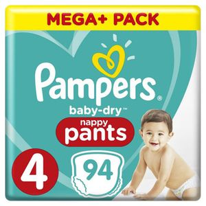 COUCHE Pampers Baby-Dry Pants Taille 4, 9-15 kg, 94 Couch