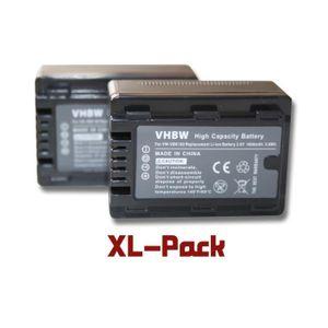 BATTERIE APPAREIL PHOTO 2 batteries de secours pour Panasonic HC-V10, HC-V