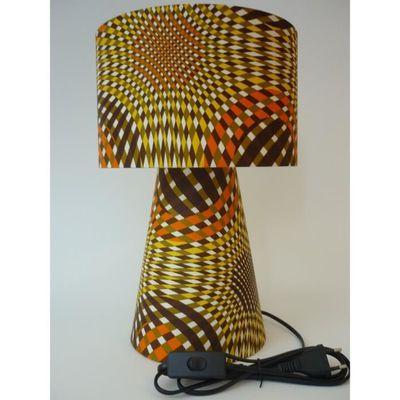 Lampe à poser déco salon chambre bureau PVC tissus Africain Style ...