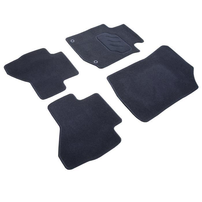 Jeu complet de 4 tapis sur mesure (2 avants + 2 arrières) pour Peugeot 407 - Vendu par jeu completTAPIS DE SOL