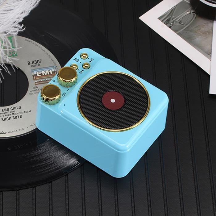 T10 Portable Vintage Phonographe Son Tf Extérieur Sans Fil Bluetooth 4.2 Haut-parleurs @pa4088