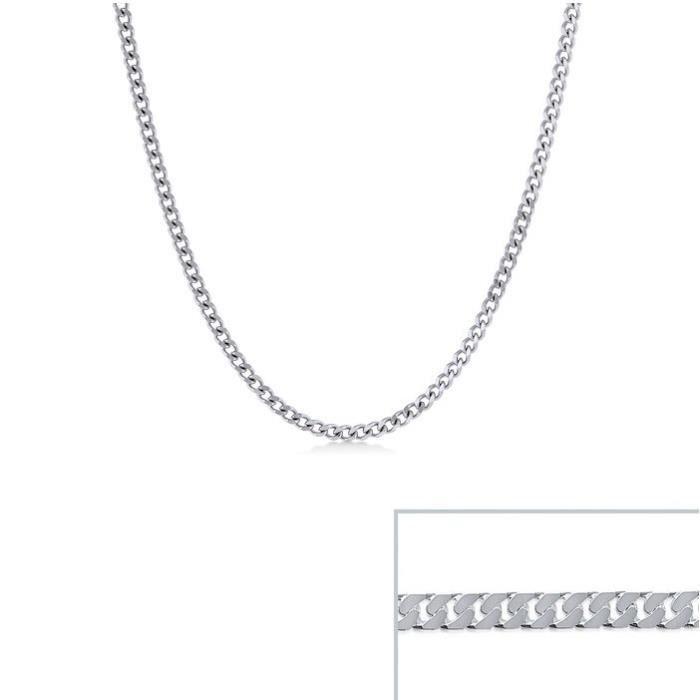 Chaine argent maille Gourmette largeur 3mm (70 cm)