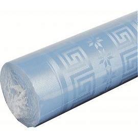 Nappe papier damassé Bleu ciel 5x1,20m - Achat / Vente nappe de ...