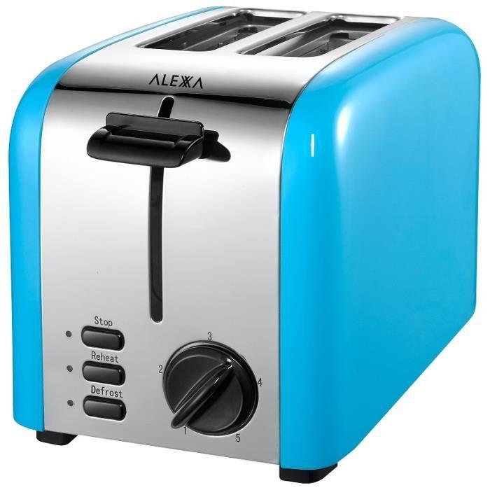 Grille-pain 850 W couleur bleu 2 tranches - Achat / Vente grille ...