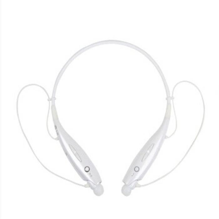 Ecouteurs Bluetooth Sport Nouvelle Arrivee De Marque Luxe Qualité Supérieure 2017 Blanc