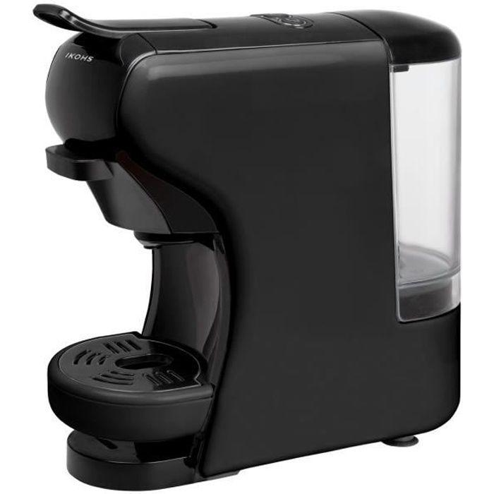 COMBINÉ EXPRESSO CAFETIÈRE Machine à Café POTTS noir IKOHS capsules et café m