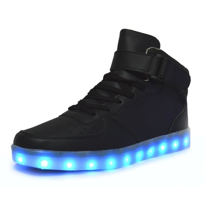 Basket Lumineuse Blanc USB Charge Chaussure Led Homme Femme Multicolore LED Lumière Lumineux Clignotants Chaussures Led Pas Cher
