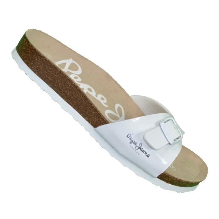 Pepe Jeans - Mules - Femme - Oban Pls90024 - Blanc Laque