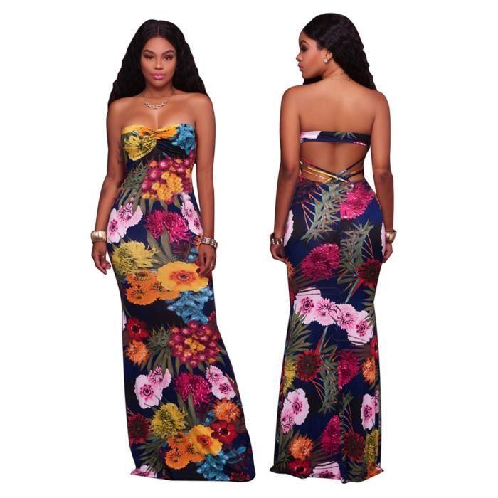 12fb454f74e Femme Robes Classique Longue Sans manches Robe Collier à un mot Coffre  enroulé Vetements Grande Taille S-XL