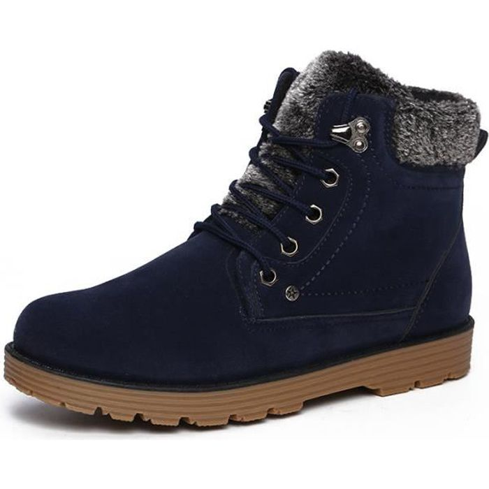 PU cuir Bottes Hommes Mode Coton bottines Chaussures hommes IFyPya2