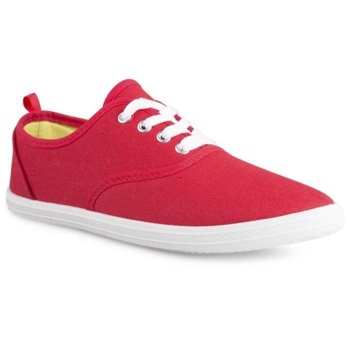 Lacé en toile Chaussures de sport mode pour les juniors CV82B Taille-36