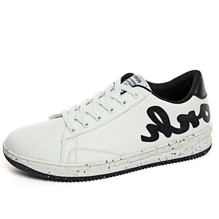 Chaussures De Sport Pour Hommes en daim Textile De Course Populaire BLLT-XZ124Blanc39 a0XBQ6vSk
