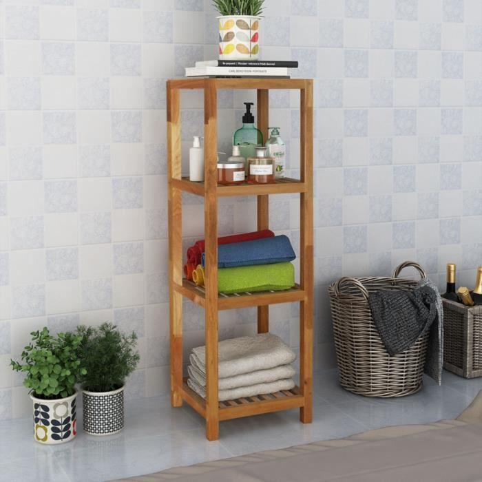 etagere salle de bain bois achat vente etagere salle de bain bois pas cher soldes d s le. Black Bedroom Furniture Sets. Home Design Ideas