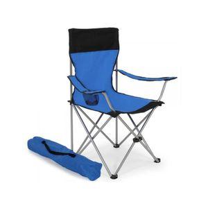 CHAISE DE CAMPING Lot De 2 Chaises Pliante Camping Housse Bleu 200