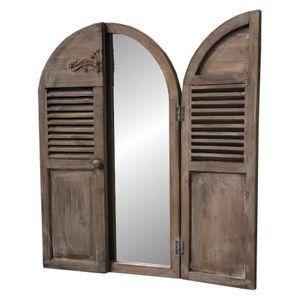 Miroir Fenetre En Bois Achat Vente Pas Cher