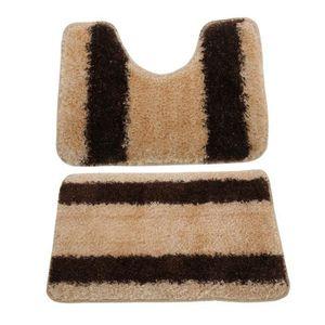 tapis salle de bain marron achat vente tapis salle de bain marron pas cher cdiscount. Black Bedroom Furniture Sets. Home Design Ideas