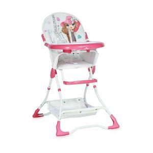CHAISE HAUTE  Chaise Haute pour bébé BONBON Rose Lorelli