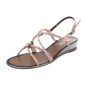 femme sandale chaussure chaussures d'été chaussures de plage l'orteil séparermarron jaune P4tuVOH4i5