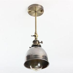 APPLIQUE  Vintage antique industriel E27 métal suspensions l