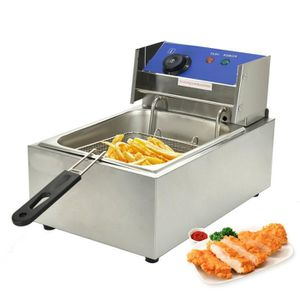 FRITEUSE ELECTRIQUE Friteuse électrique inox 6L, friteuse professionne