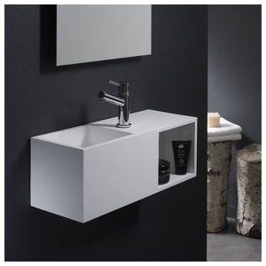 LAVE-MAIN Lave-mains en solid surface Arezzo 54x20 cm avec e