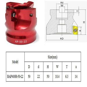 FRAISEUSE Aluminum(BAP 400R-50-22-4F )indexable face fraise