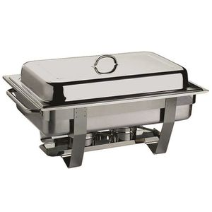 CHAUFFE-PLAT ELECTRIQUE Chafing Dish Basic en acier inoxydable D : 600 x 3