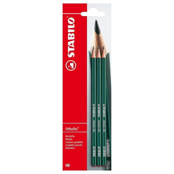 STABILO Blister de 3 Crayons Hexagonal Othello - HB