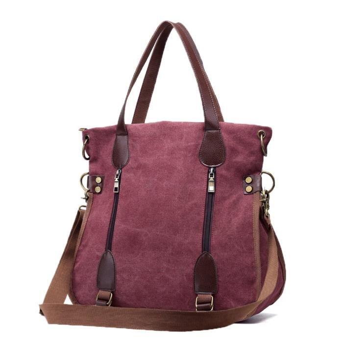 fourre-tout en toile sac à bandoulière sacs à main vintage sac bandoulière FEM6U