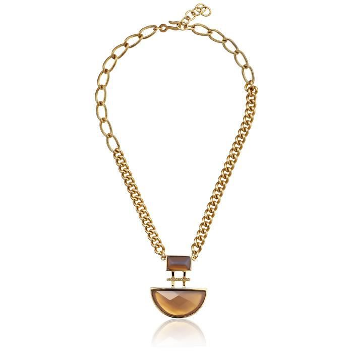 Haley Collection Double Rectangular Stone Necklace JGFYL