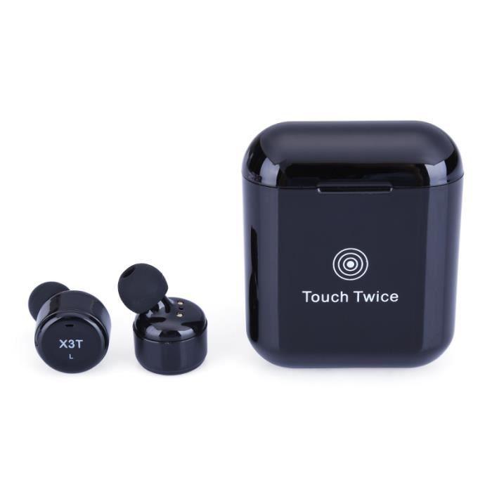 X3t Touch Oreillette Binaural Bluetooth Tws Sans Fil Mini Avec Casque De Chargement Bac