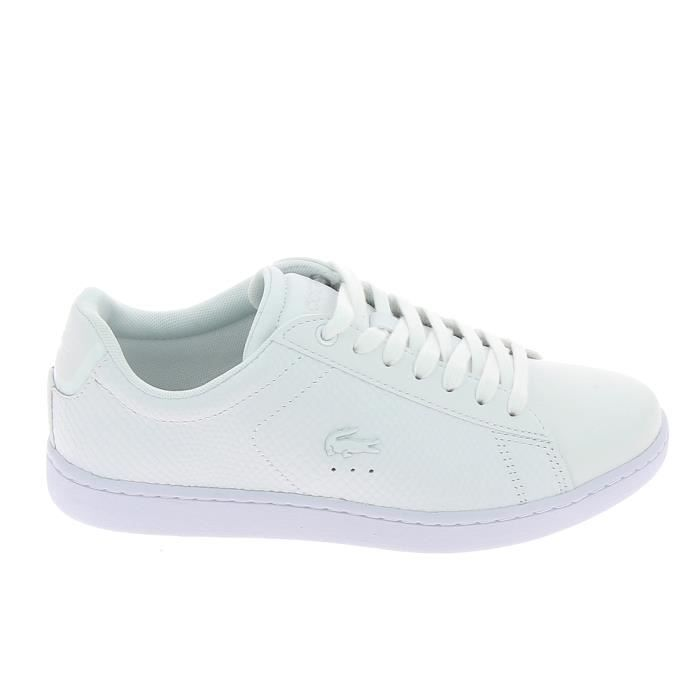 Basket -mode - Sneakers LACOSTE Carnaby Evo Blanc Np3byX