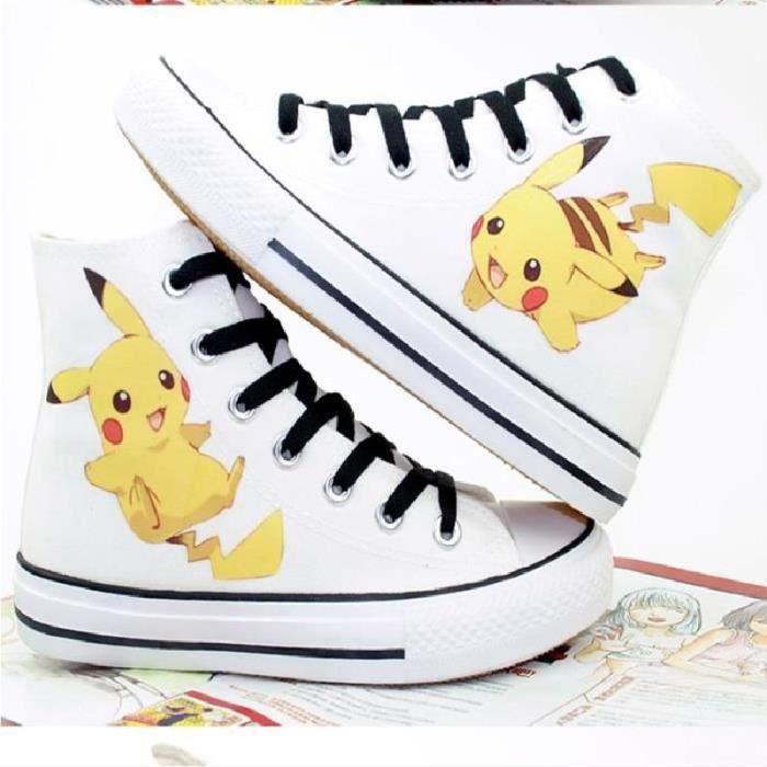 chaussures Pokemon toile chaussures de sport pikachu bande dessinée chaussures Pokemon