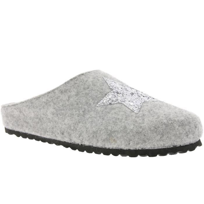 SUPERSOFT Pantoufles femme gris 522 223 D2XR55