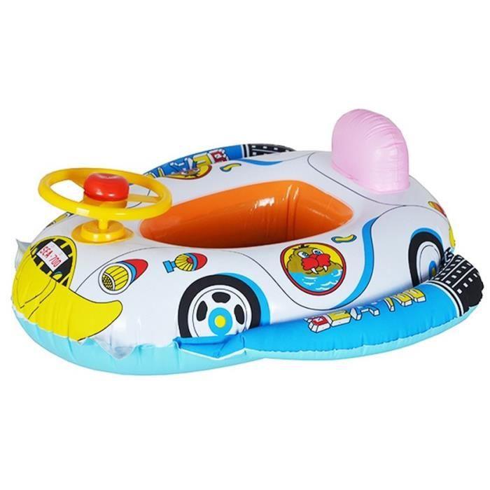 Baignoire bouee enfant natation gonflable voiture cartoon for Grosse piscine gonflable