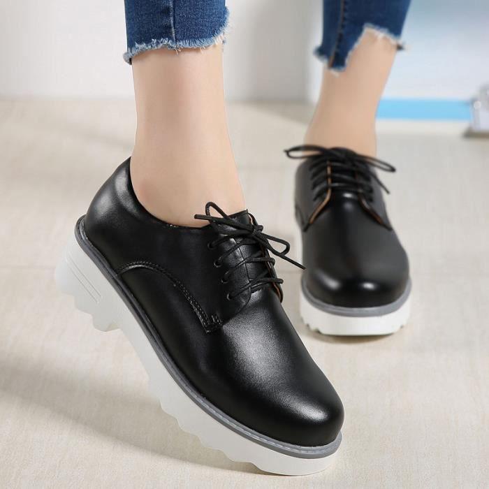 Meilleur Mocassins brun Ville De Talons Blanc Mode Femme Lgantes Chaussures noir wYBaYqnC7