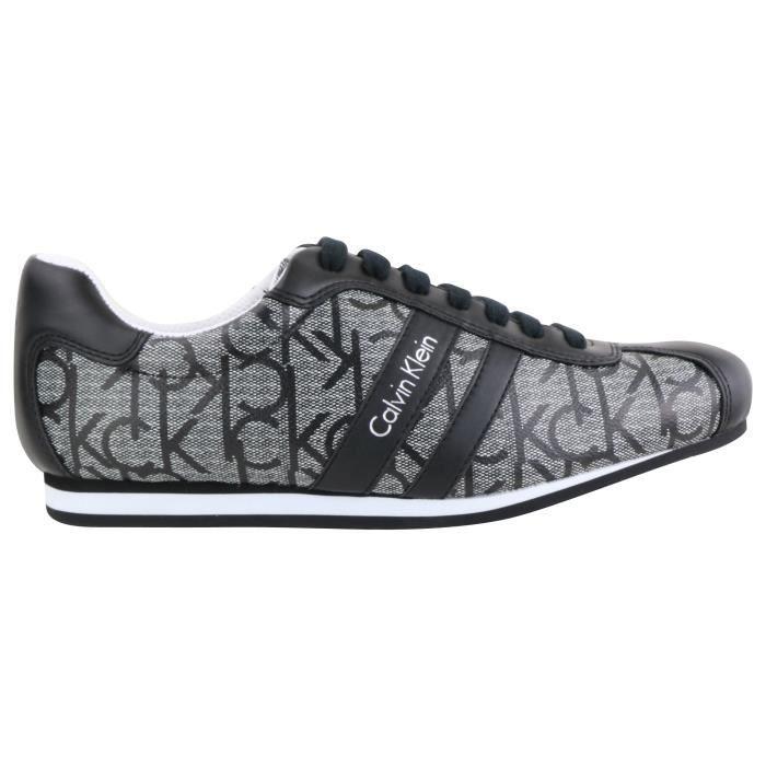 Calvin Klein chaussure cuir granite GEORGE ICONOGRAM Homme (Granite - 40) JikmgmE
