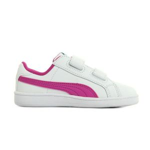 Puma - CHAUSSURE TENNIS CADET PS SMASH FUN blanc - Chaussures Baskets basses