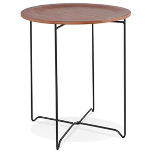 TABLE D'APPOINT HO - Table d'appoint design noire style industriel