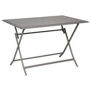 3ec9418ab99 TABLE DE JARDIN Table pliante Azua - 6 Places - Marron tonka