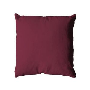 COUSSIN Coussin Uni Polyester Prune 40 x 40 cm