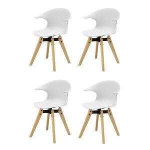 CHAISE TIGA Lot de 4 chaises de salle à manger - Simili b