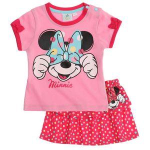 Ensemble de vêtements Disney Minnie   T-shirt et jupe