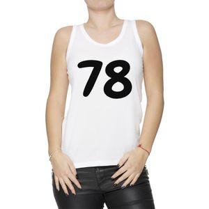 separation shoes ba02b 081ff Débardeur Débardeur - 78 Femme T-Shirt Blanc Taille M Women