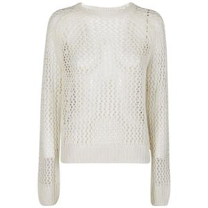 PULL 360SWEATER FEMME 35654WHITE BLANC LIN PULLOVER