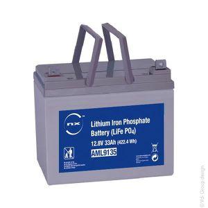 BATTERIE DOMOTIQUE NX - Batterie lithium fer phosphate 12V 33Ah T5