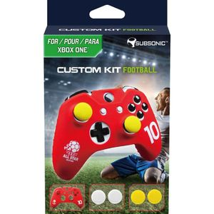 CAPUCHON STICK MANETTE Kit Football pour Manette Xbox One - Rouge - SUBSO
