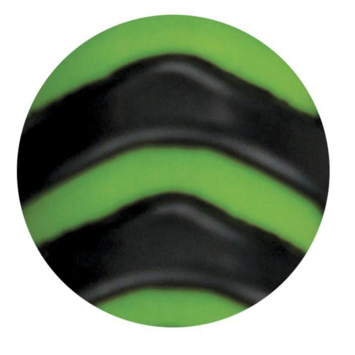 Cure-pieds brosse Soft Hand pour cheval - Vert anis et noir