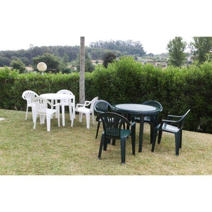 Fauteuil jardin resine vert - Achat / Vente pas cher