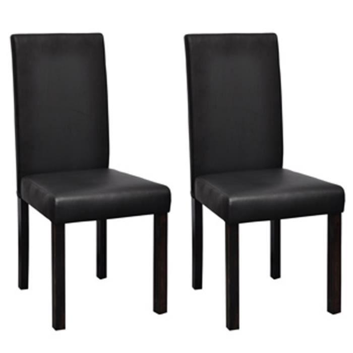 CHAISE Lot De 2 Chaises Moderne Et Classique Noir